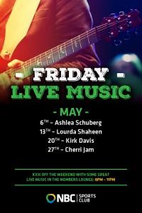 Friday live music – May
