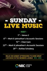 Sunday live music – May