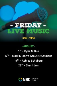 Friday Live Entertainment August