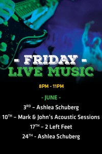 Friday Live Entertainment for June