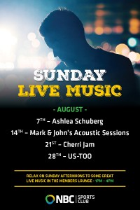 Sunday Live Entertainment August