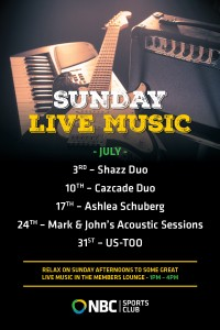 Sunday Live Entertainment July