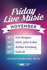 Friday Live Music November