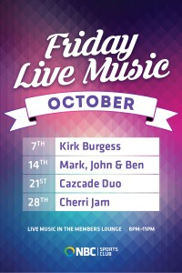 Friday Live Music October