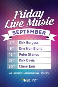Friday Live Music September