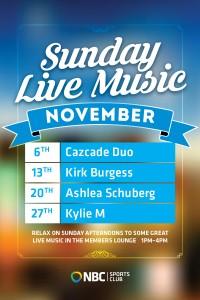 Sunday Live Music November
