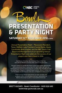 Bowls Presentation & Party Night 2